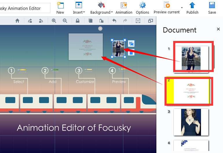 how to import contents from powerpoint document focusky knowledge