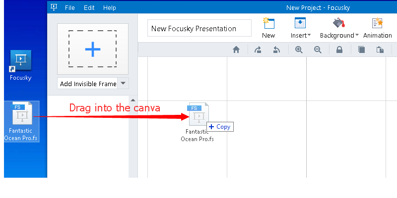 How to save current presentation project for re-editing